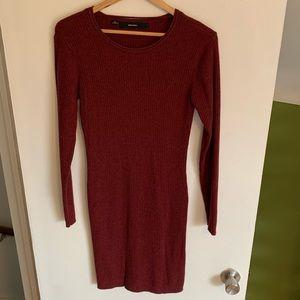 Vero Moda dress in large, cranberry color